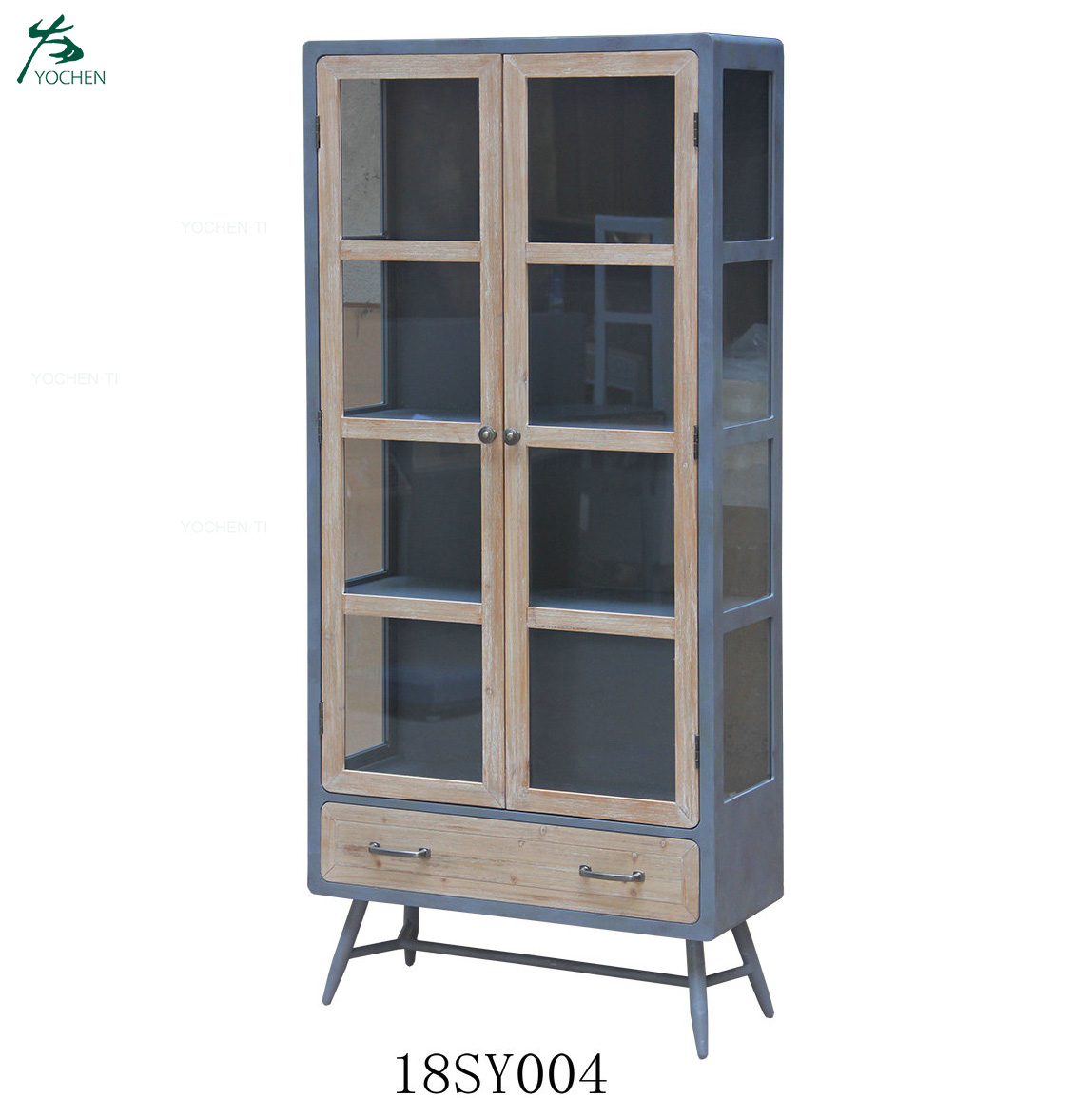 OEM customized low MOQ iron wooden industrial cheap book cabinet