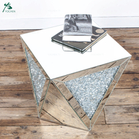 Diamond crush mirrored furniture venetian glass side table