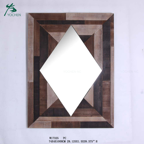 wall art reclaimed wood mirror frame small decorative wall mirror for home decor