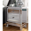 wholesale wood mirrored bedside table nightstand