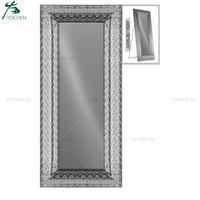 Metal Moroccan Style Full Length Floor Standing Mirror