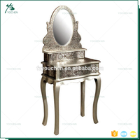 Industrial Copper Metal Embossed Iron Dressing Table Design