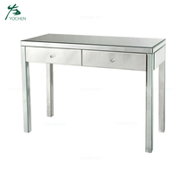 Modern Hallway Luxury Wood Mirrored Console Table