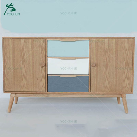 TV cabinet modern wooden furniture tv showcase with drawer