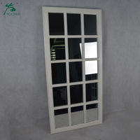 Floor Standing Antique Full Length Decorative Wood Wall Window Mirror