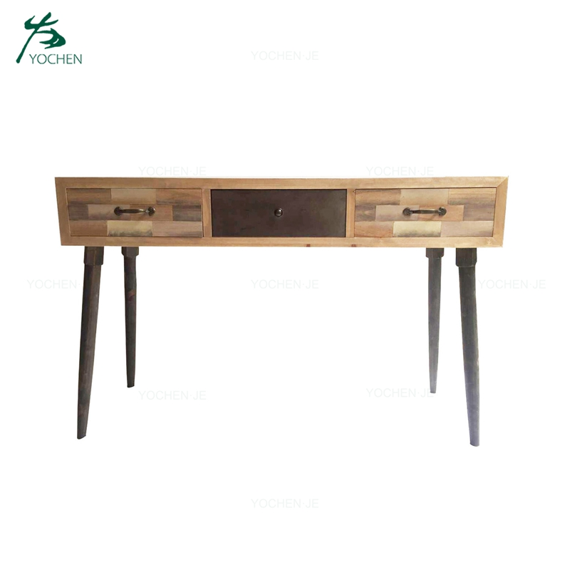 Modern wooden entryway long narrow hallway console table