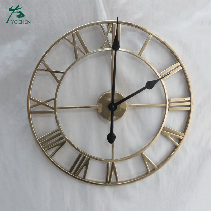 Large Metal Decorative Round Antique Wall Digital Clock
