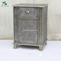 antique black embossed wooden vanity cabinet