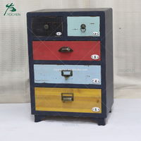 black wooden cabinet with colorful drawers paint corner cabinet