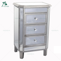industrial furniture mini wood storage drawers mirror cabinet