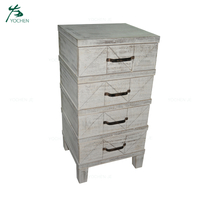 4 drawers reclaimed wood furniture wooden storage cabinet