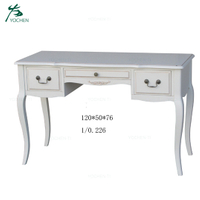 Home Furniture Modern White Printing Wooden Table With Stool Design
