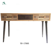 Living room antique style with pine legs wood grain finish TV table
