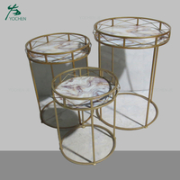 modern living room furniture glass round tea table set