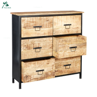 Factory Wholesale Industrial Wooden 6 Drawer Chest