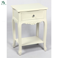 White Wooden Nightstand Cheap Bedroom Furnitures Bedside Table