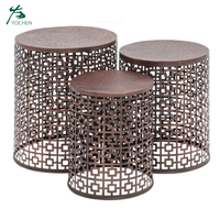 Home Decor Decorative Round Nesting Coffee Accent Table