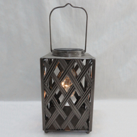 vintage black metal candle holder for home decor