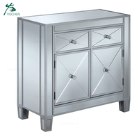home furniture mirrored wooden chest drawer furniture