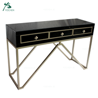 Home furniture mirrored console hallway table