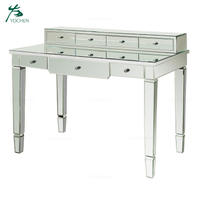 siler glass table mirrored furniture wholesale desk mirrored console table
