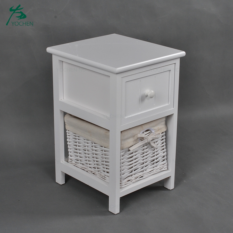 Living room furniture tall corner cabinet basket drawer