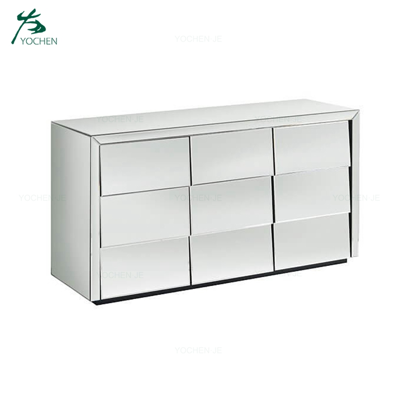 Crushed Diamond Mirrored Cabinet Hallway Cabinet Furniture Chest of Drawers