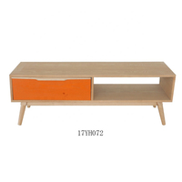 Modern corner wooden TV unit cabinet One Drawer TV Stand