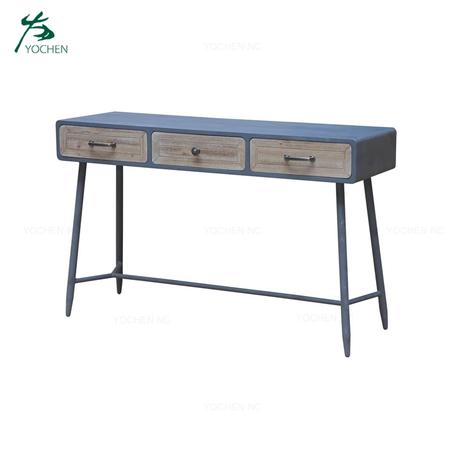Industrial vintage furniture wood reception office desk industrial desk