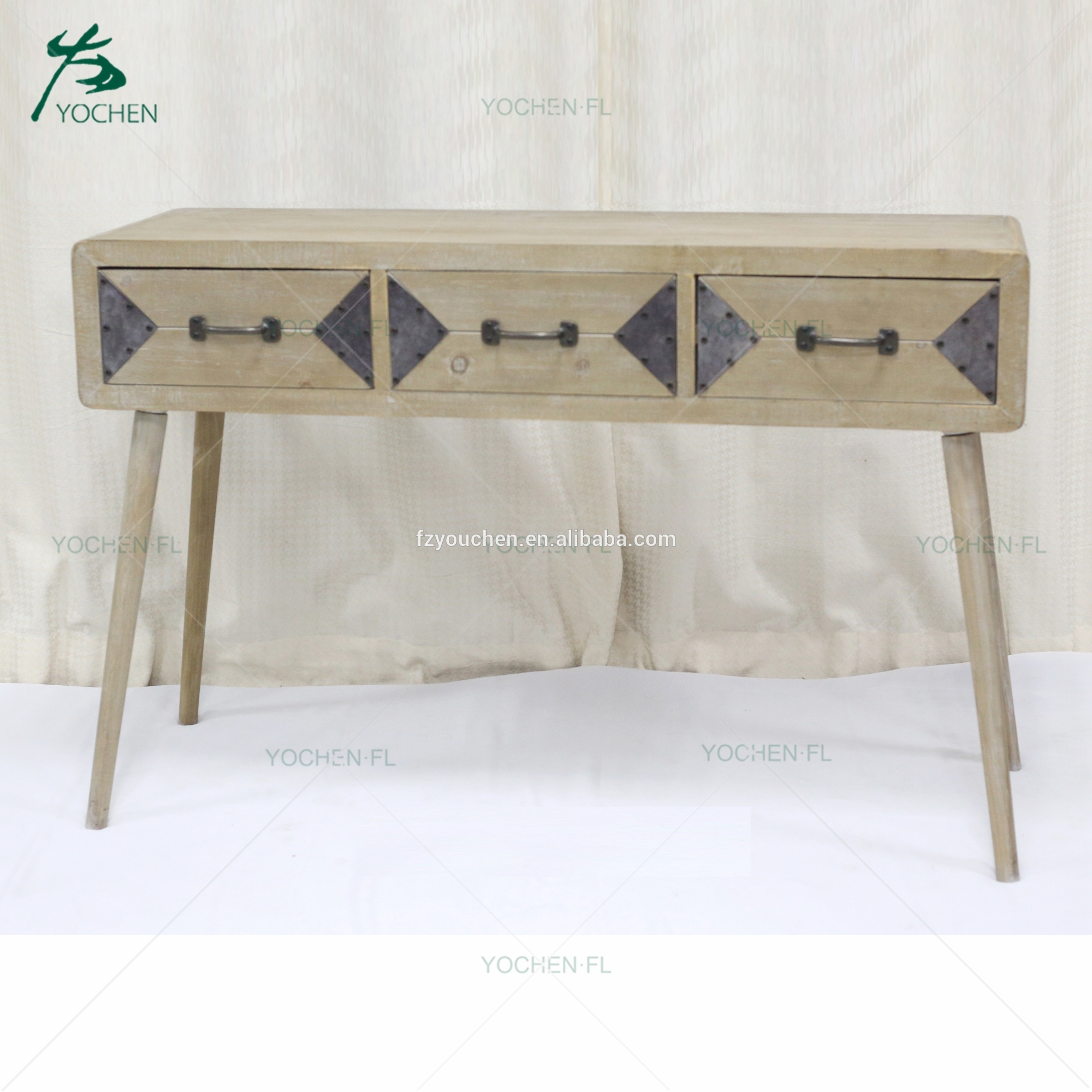 industrial furniture practical antique wooden folding table