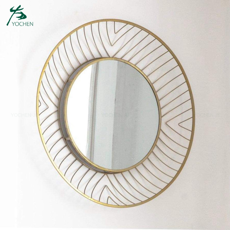 Antique Gold Metal Frame Decorative Wall Mirror