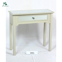 KD furniture drawer mirrored table living room Console Table with 1 Drawer