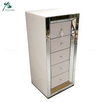 White mirrored tallboy chest of drawers bedroom furniture
