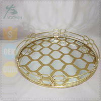 middle east round gold color tray metal for home decor