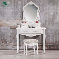 Simple style wooden furniture antique wooden dressing table