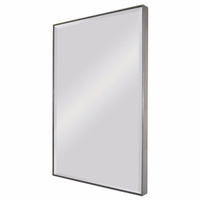 Rectangle Wall Leaning Mirror in Stainless Steel