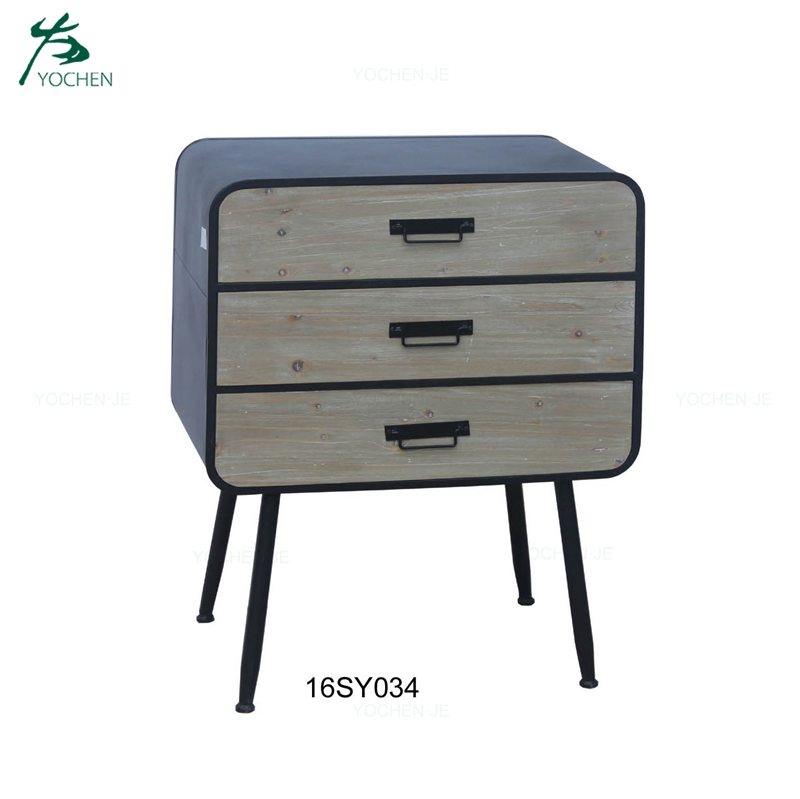 3 drawers night table bedside cabinet wooden bedroom night stand