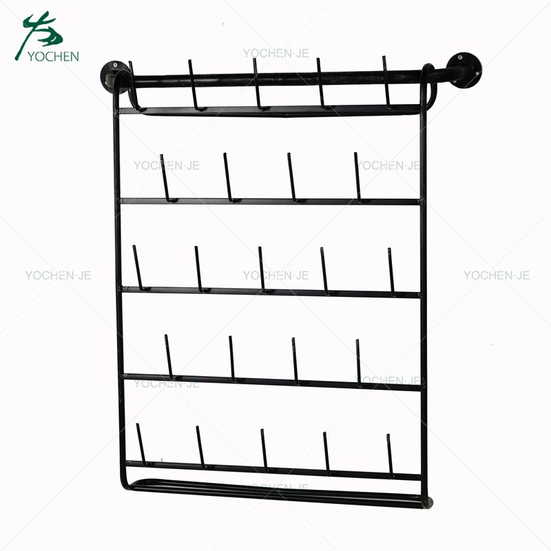 Black Metal Wall Mounted Hanging Hooks Display Stand