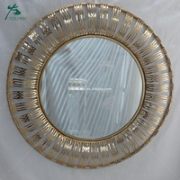 home furniture decoration metal frame round dressing room mirror