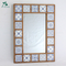 houseware wooden frame cross decorative wall mirror